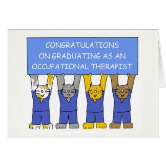 Occupational therapist graduate congratulations. card