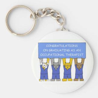 Occupational therapist graduate congratulations. keychain