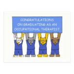 Occupational therapist graduate congratulations. postcard