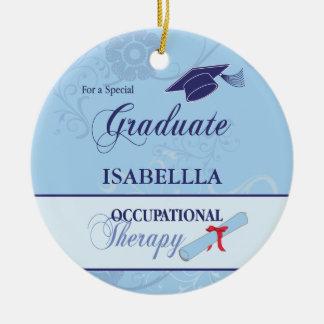 Occupational Therapist Graduation Swirl Round Gift Ceramic Ornament