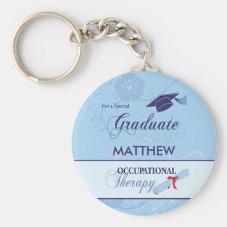 Occupational Therapist Graduation Swirl Round Gift Keychain