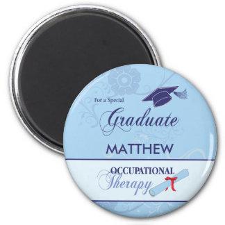 Occupational Therapist Graduation Swirl Round Gift Magnet