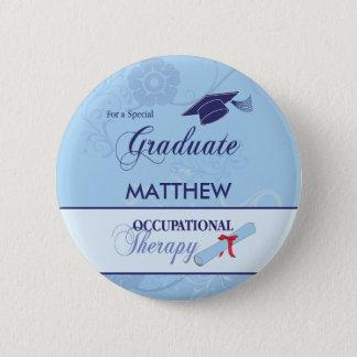Occupational Therapist Graduation Swirl Round Gift Pinback Button