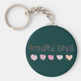 Occupational therapist HEARTS Design Keychain