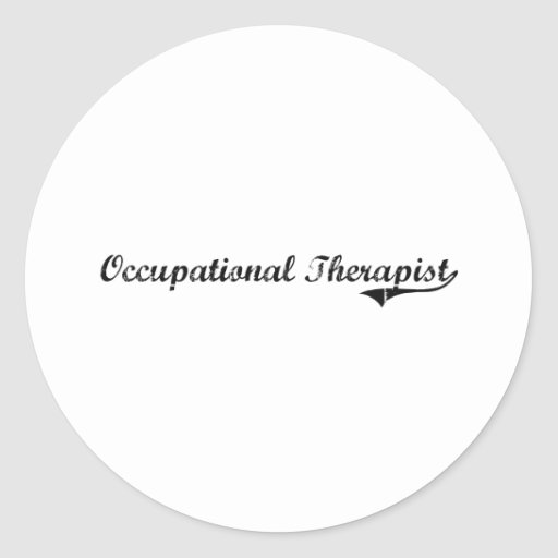 Occupational Therapist Professional Job Sticker