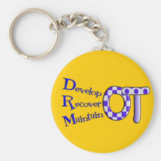Occupational Therapist T-Shirts and Gifts Basic Round Button Keychain