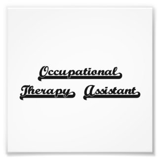 Occupational Therapy Assistant Classic Job Design Photo Print