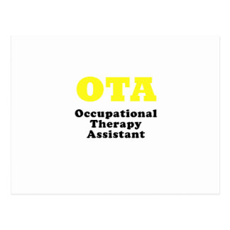 Occupational Therapy Assistant Postcard