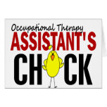 OCCUPATIONAL THERAPY ASSISTANT'S CHICK GREETING CARD