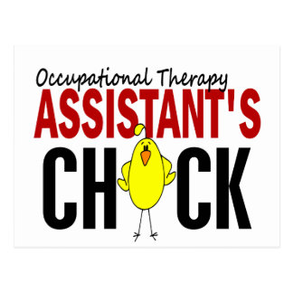 OCCUPATIONAL THERAPY ASSISTANT'S CHICK POSTCARD