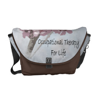 occupational therapy cherry blossom messenger bag