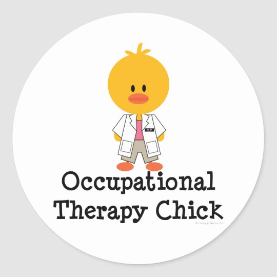 Occupational Therapy Chick Stickers