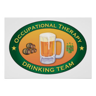 Occupational Therapy Drinking Team Poster