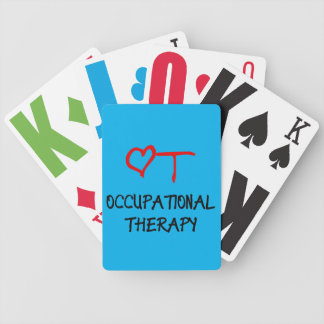 Occupational Therapy Heart Low Vision Playing Card