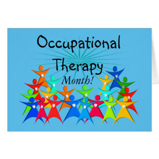 Occupational Therapy Month Blue Card