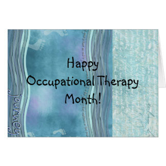 Occupational Therapy Month Greeting Card