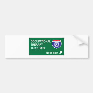 Occupational Therapy Next Exit Bumper Sticker