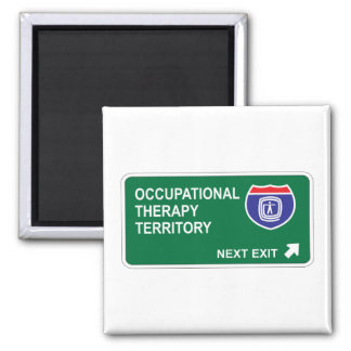 Occupational Therapy Next Exit Refrigerator Magnets