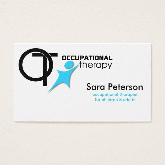 Occupational Therapy Ot Black Sky Blue Business Card Zazzle Com