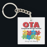 """OccupationalTherapy Assistant Keychain<br><div class=""""desc"""">Promote Occupational Therapy and your AWESOME job as an OTA with this acrylic keychain!</div>"""