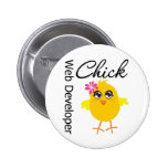 Occupations Chick Web Developer Pinback Buttons