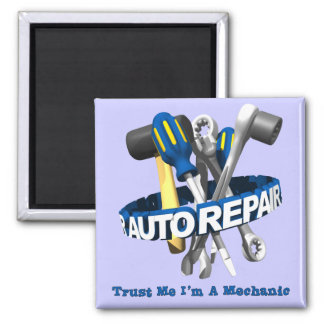 Occupations: Mechanic 2 Inch Square Magnet