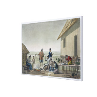 Occupations of the Agagna people, Mariana Islands, Canvas Print