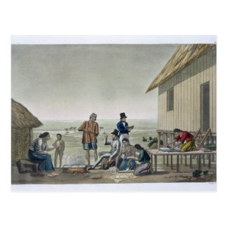 Occupations of the Agagna people, Mariana Islands, Postcard