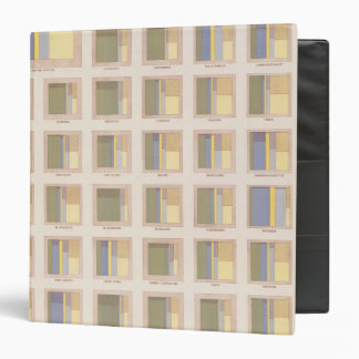 Occupations, School Attendance, US Lithograph Vinyl Binders
