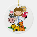 Occupations - Veterinarian - SRF Double-Sided Ceramic Round Christmas Ornament
