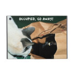 Occupied, Go Away! Funny Cats Cover For iPad Mini