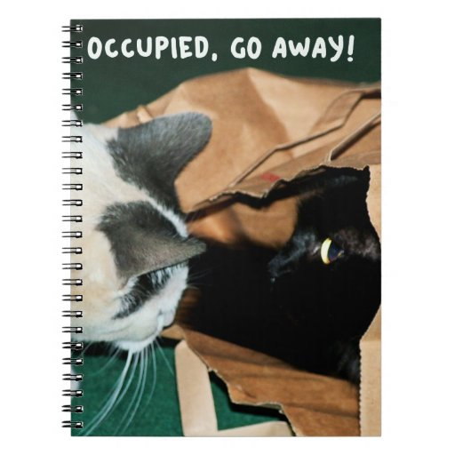 Occupied, Go Away! Funny Cats Journal