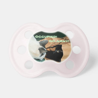 Occupied, Go Away! Funny Cats Pacifier