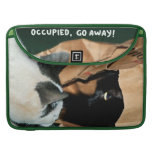 Occupied, Go Away! Funny Cats Sleeve For MacBooks