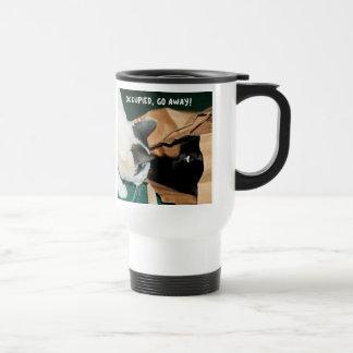 Occupied, Go Away! Funny Cats Travel Mug
