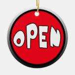 Occupied or Open Reversible Door Hanger Christmas Tree Ornaments