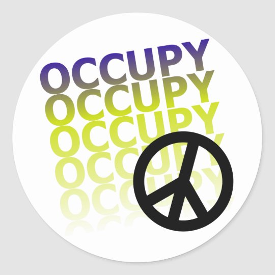 OCCUPY58 CLASSIC ROUND STICKER