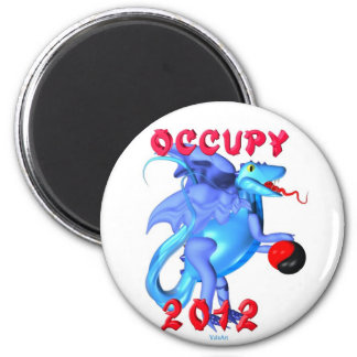 Occupy 2012 - occupy movement water dragon magnet