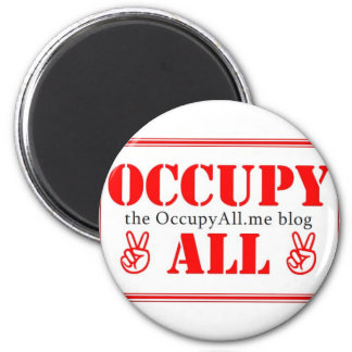 Occupy All blog 2 Inch Round Magnet