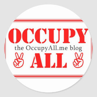 Occupy All blog Classic Round Sticker