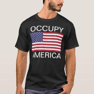 OCCUPY AMERICA/AMERICAN FLAG T-Shirt
