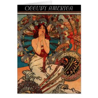 OCCUPY AMERICA GREETING CARD