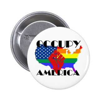Occupy America - LGBTQ Button