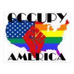 Occupy America - LGBTQ Postcard