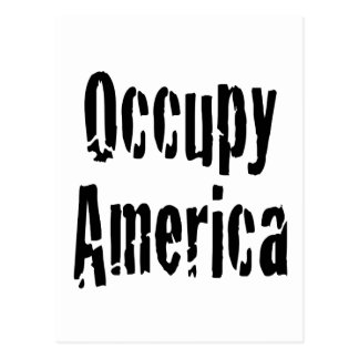 Occupy America Postcard