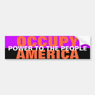 OCCUPY AMERICA POWER TO THE PEOPLE BUMPER STICKER