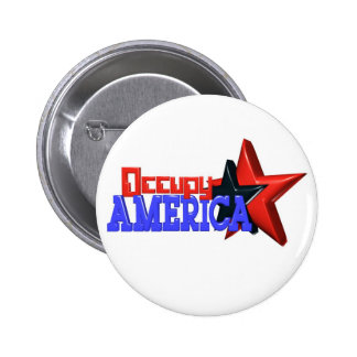 Occupy America protest 99 percent strong Pinback Button