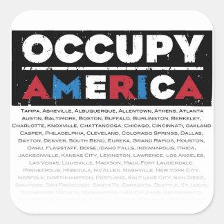 Occupy America Square Sticker