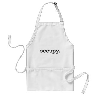 occupy. aprons