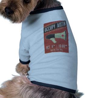 Occupy Austin - Occupy Wall Street Dog Tshirt